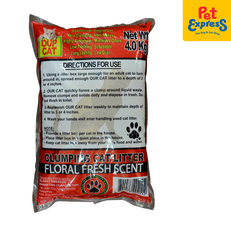 Our Cat Clumping Cat Litter Floral Fresh 4kg