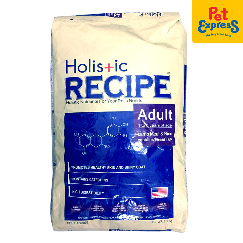 Holistic Recipe Adult Dry Dog Food 7.5kg