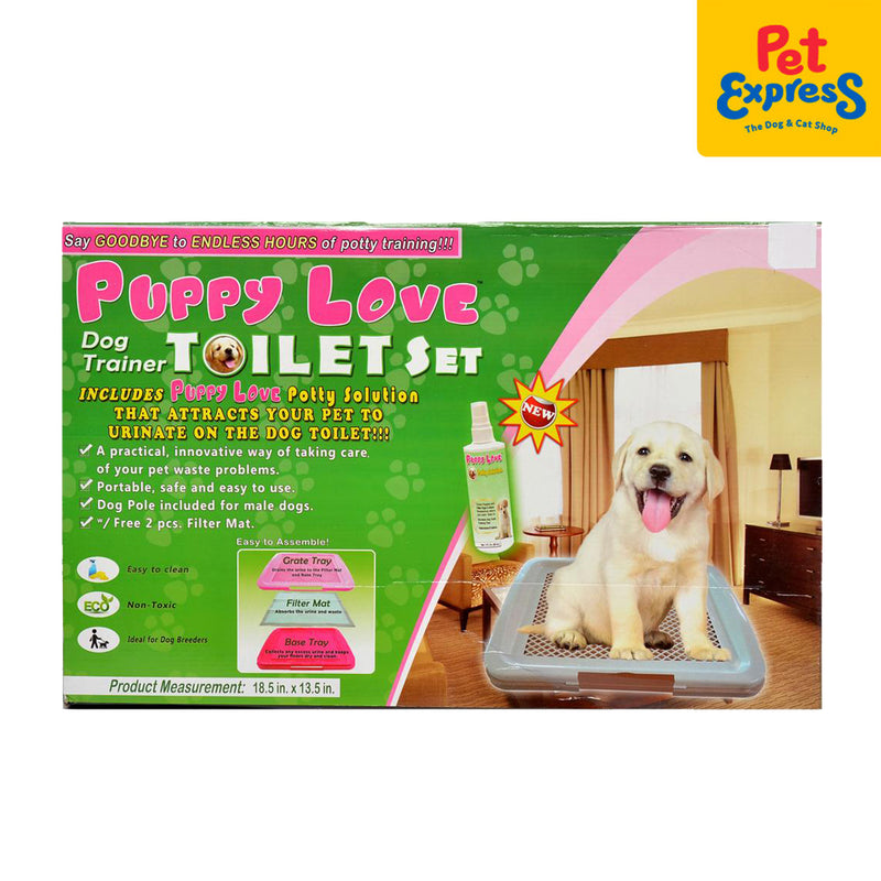 Puppy Love Potty Toilet Set 18.5x13.5