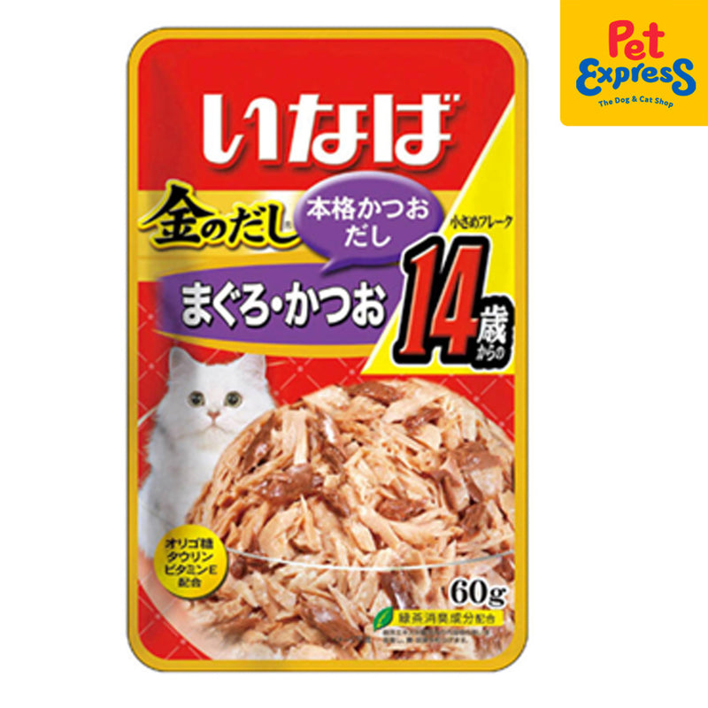 Inaba Tuna Flakes Jelly 60g Cat Pouch (12 pouches)