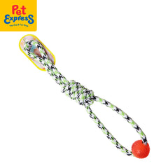 Pet Toy Ball with Knotted Rope