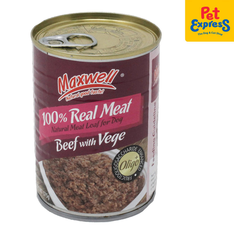 Maxwell Canned Dog Food Beef w/ Vegetable 375g (2 cans)