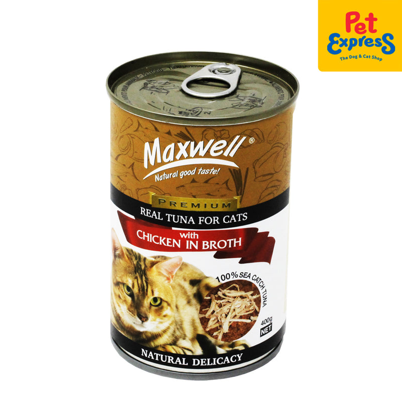 Maxwell Premium Real Tuna with Chicken Broth Wet Cat Food 400g (2 cans)