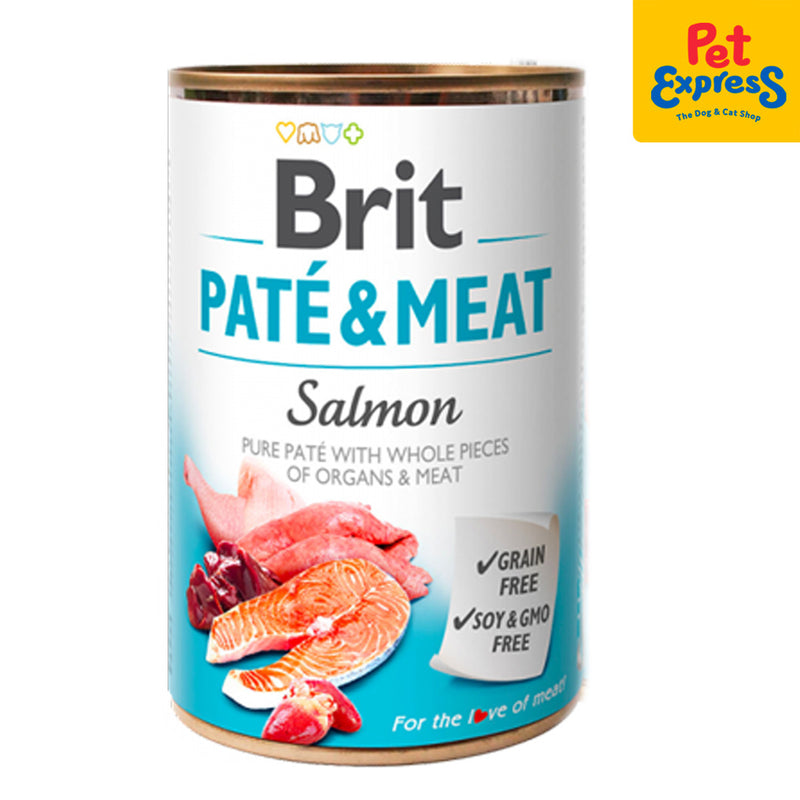 Brit Pate and Meat Salmon Dog Food 400g (2 cans)