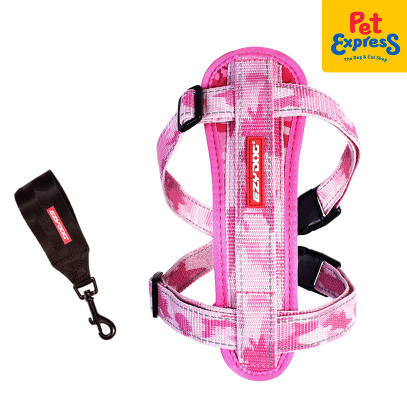Ezydog Chestplate Harness Small Pink Camouflage