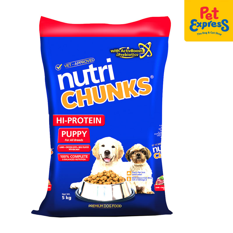 Nutri Chunks Hi Protein Puppy Lamb, Chicken Liver & Milk dog food 5kg