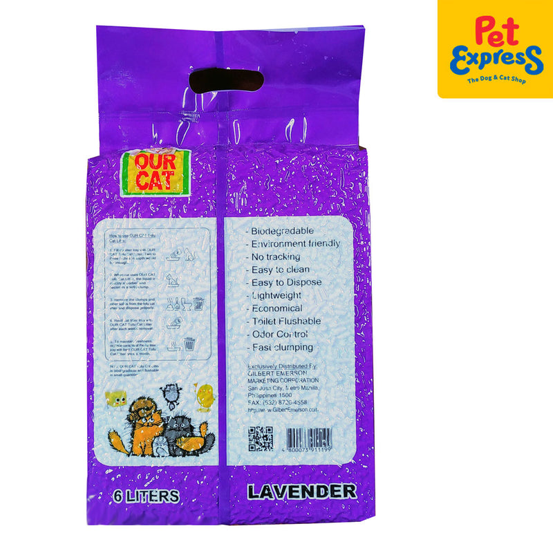 Our Cat Tofu Cat Litter Lavander 6L
