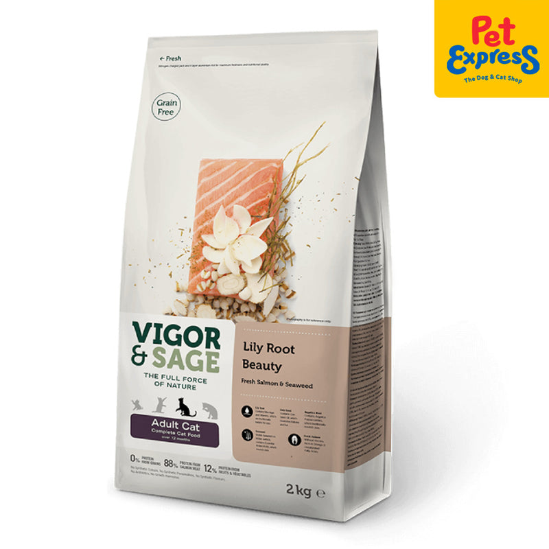 Vigor and Sage Lily Root Beauty Adult Dry Cat Food 2kg
