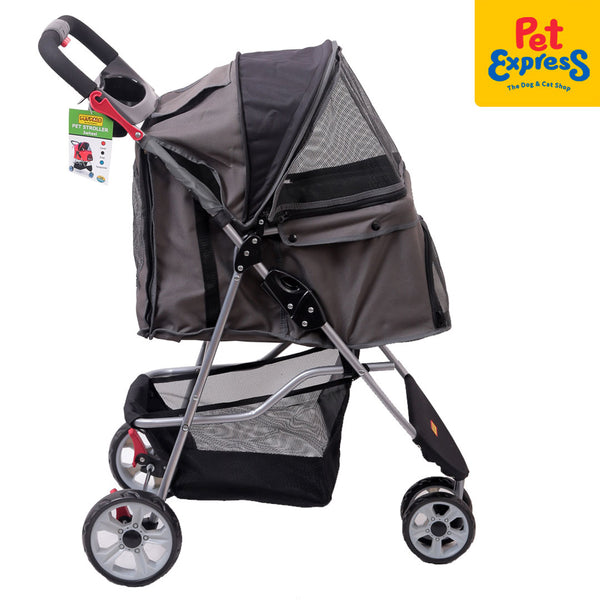 Pet Stroller 3 Wheel (Stone Gray)