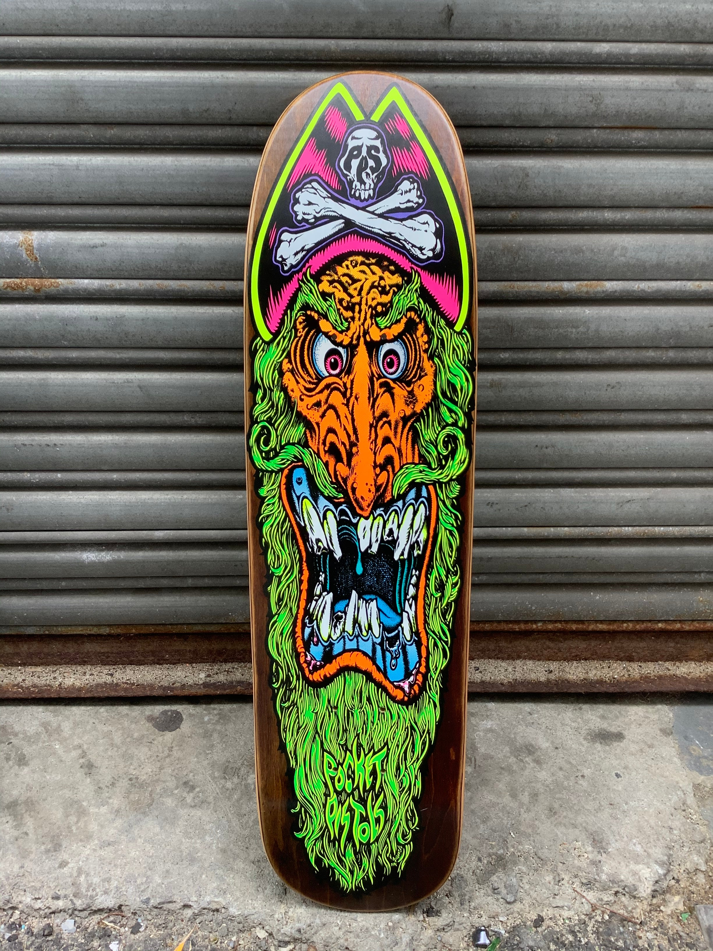 "Pocket Pistols Irate Pirate Mini Shred Red 7.625"" Deck"