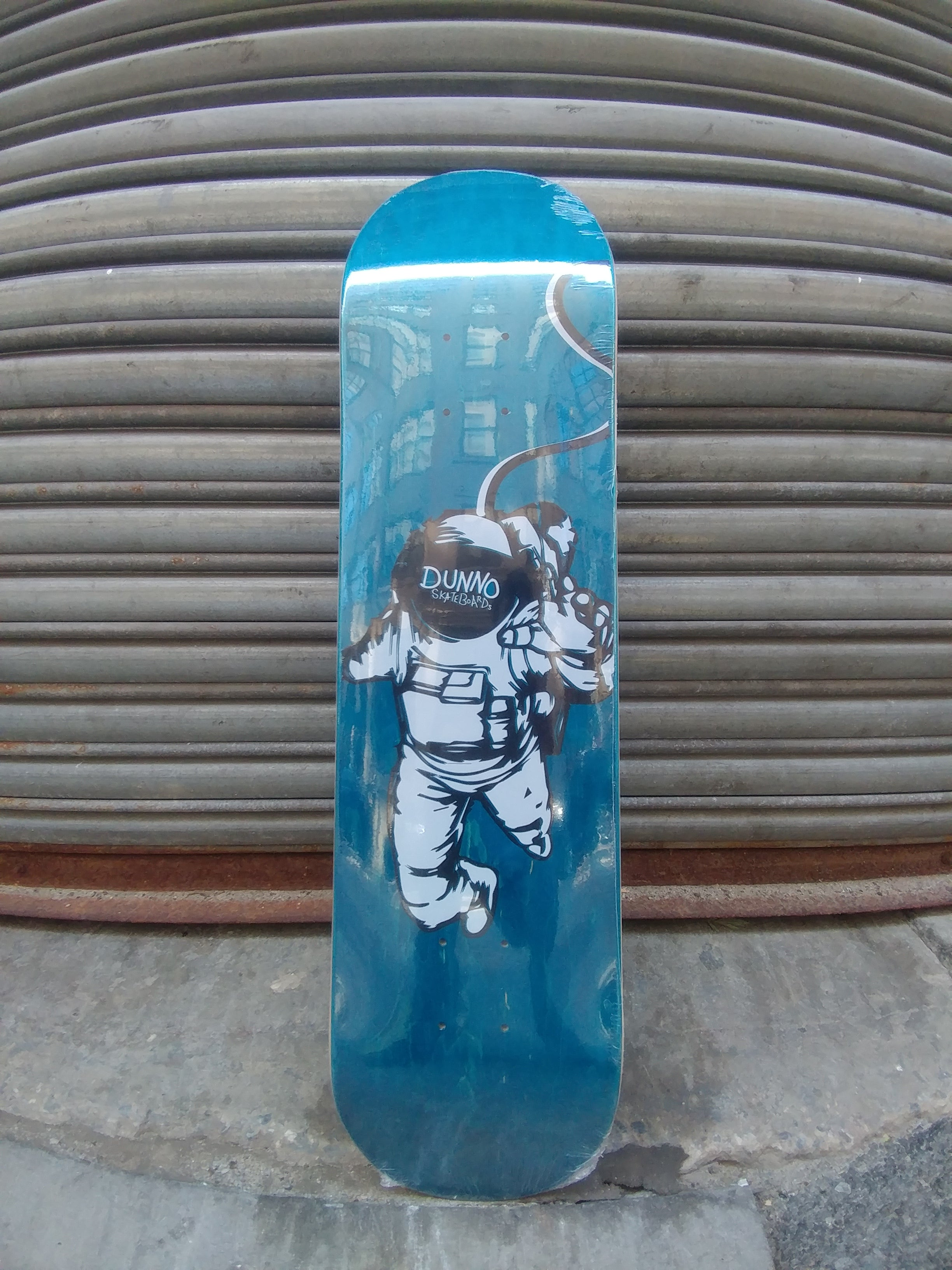 "Dunno Skateboards Lost In Space Blue 7.75"" Deck"