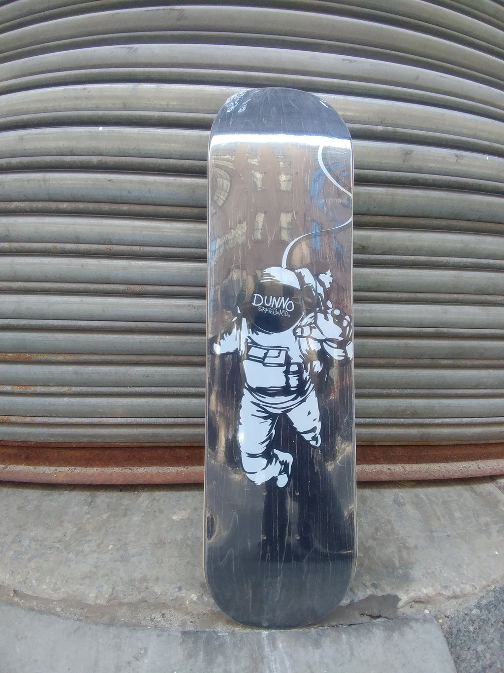 "Dunno Skateboards Lost In Space Charcoal 7.75"" Deck"