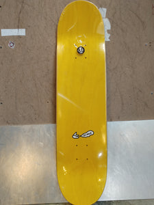 "Dunno Skateboards 8.0"" Pattern Yellow Deck + FREE GRIP"