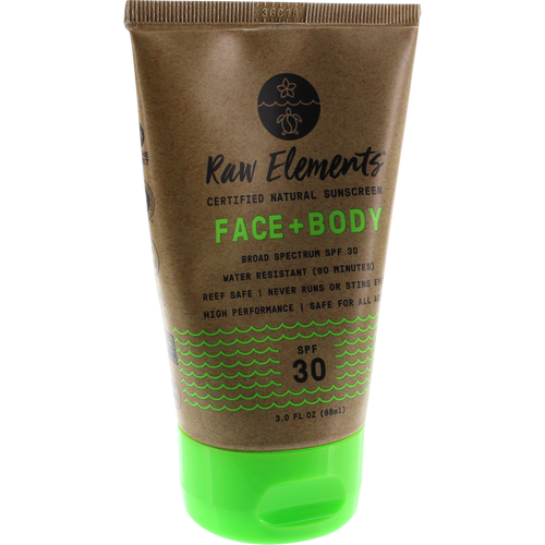 Raw Elements Eco Formula 30+ Lotion Tube (3 oz)