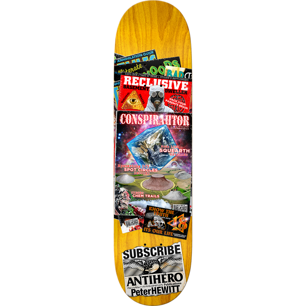 "Anti Hero Hewitt Back Issues Full 8.75"" Deck + FREE GRIP"