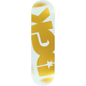 "DGK OG Logo White / Gold 8"" Deck + FREE GRIP"