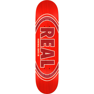 "Real Oval Duofade Renewal 8.06"" Deck (Red)"