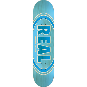 "Real Oval Duofade Renewal 8.5"" Deck (Blue)"