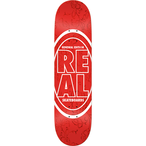 Real Stacked Floral Red 7.75