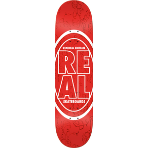 "Real Stacked Floral Red 7.75"" Deck"