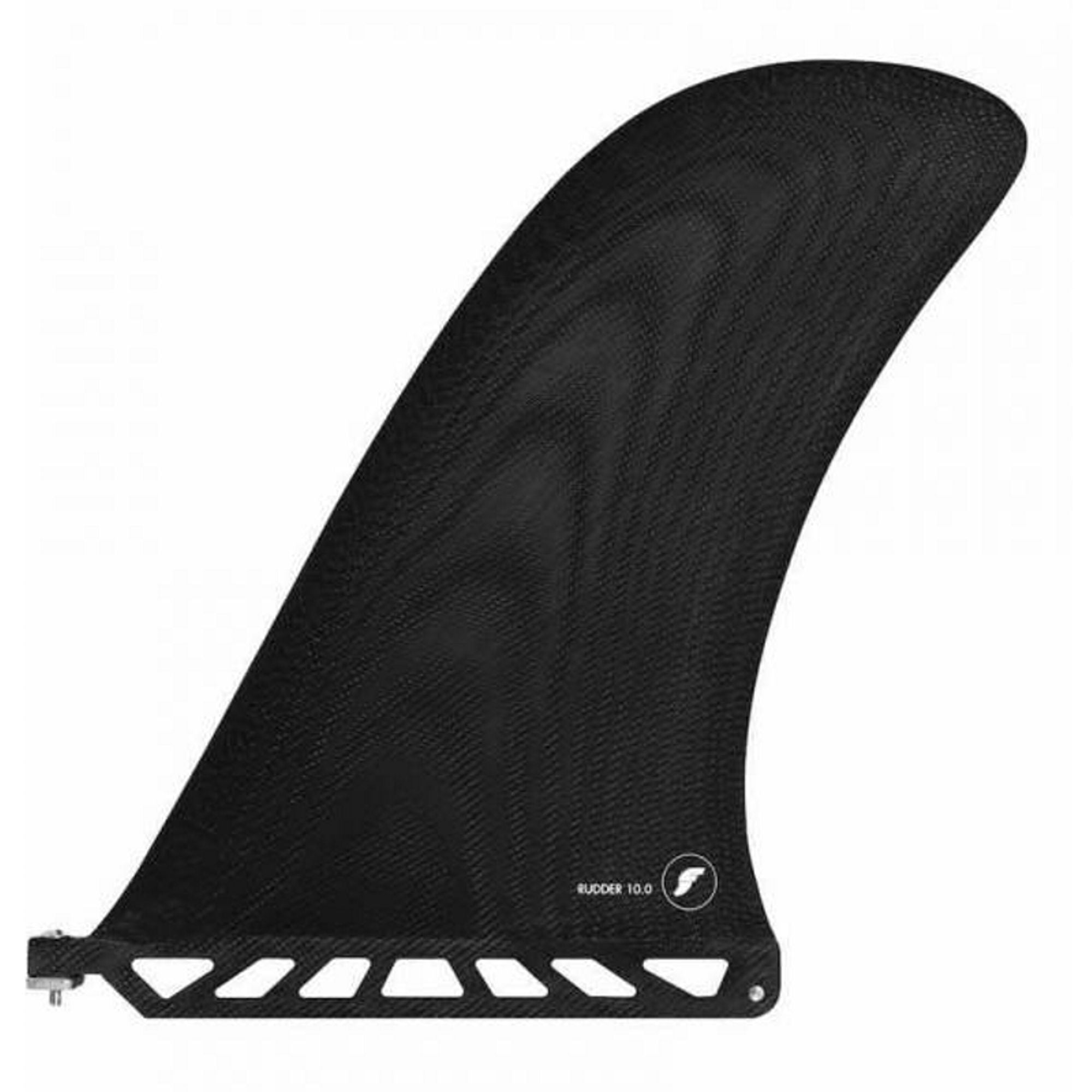 "Futures Rudder 10.0"" Fiberglass Black Fin"