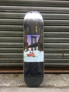 "Bridge Skateboards Rapids 8.25"" Charcoal Stain Deck + FREE GRIP"