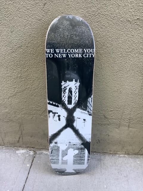 "Bridge Skateboards ""We Welcome You to New York"" 8.3"" Deck"