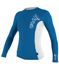 O'Neill Girls Premium Skins UPF 50+ L/S Rash Guard