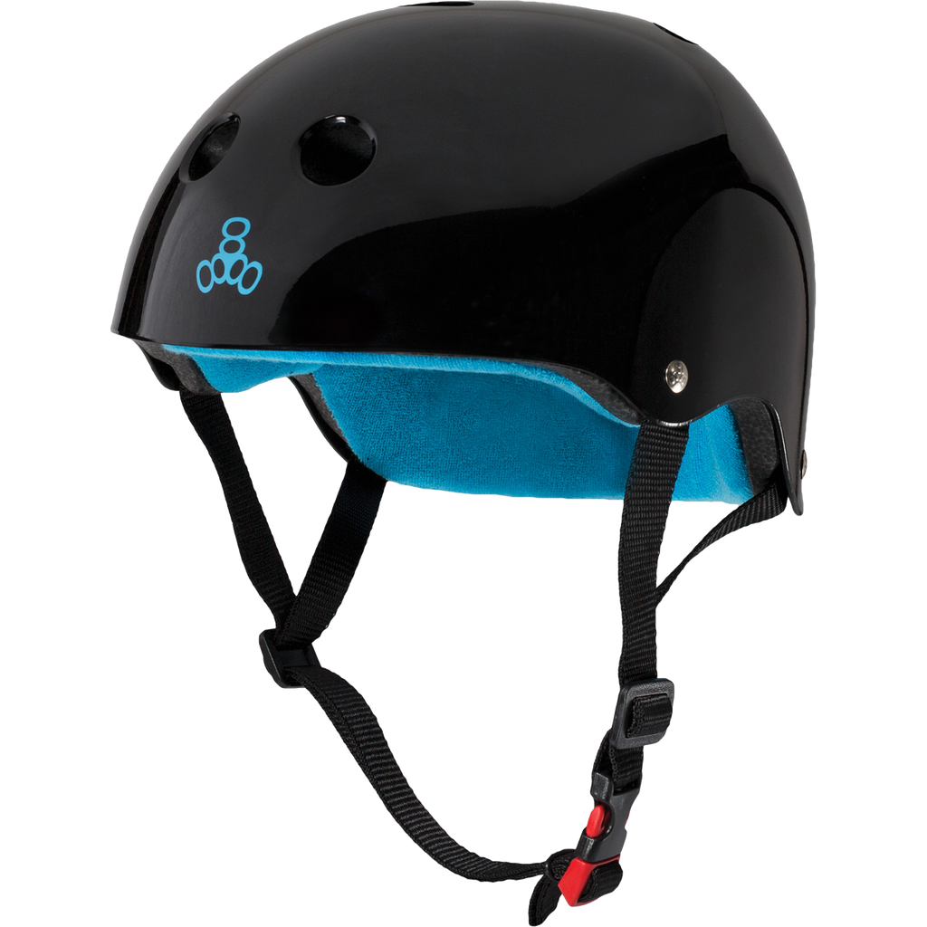 Triple Eight The Certified Sweatsaver Black / Blue Helmet