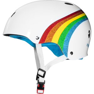 Triple Eight Sweatsaver Color Collection White Rainbow Helmet