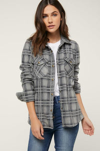 O'Neill Zuma Superfleece Flannel (Heather Grey)