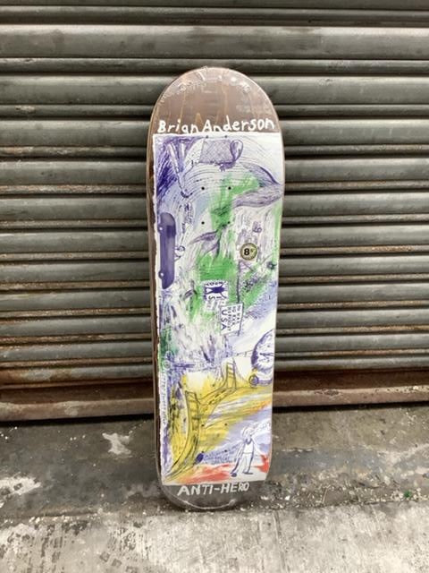 "Anti Hero Anderson SF Then and Now 8.5"" Deck"