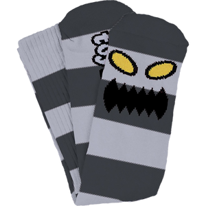 Toy Machine Big Stripe Crew Socks (Grey)