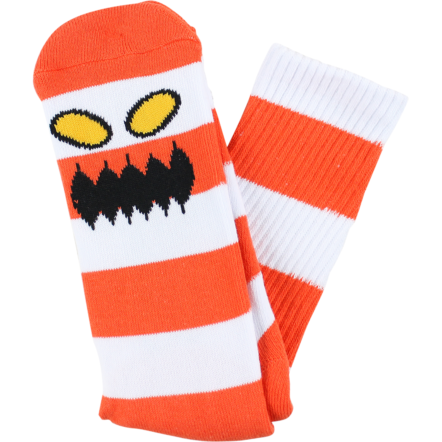 Toy Machine Monster Big Stripe Red Crew Socks