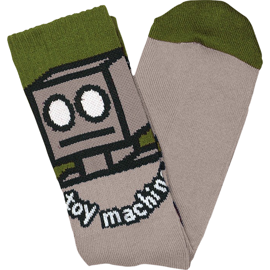 Toy Machine Robot Crew Socks (Sand)
