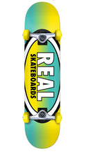 "Real Team Oval Fades Yellow/Teal 7.5"" Complete"