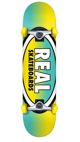 Real Team Oval Fades Yellow/Teal 7.5