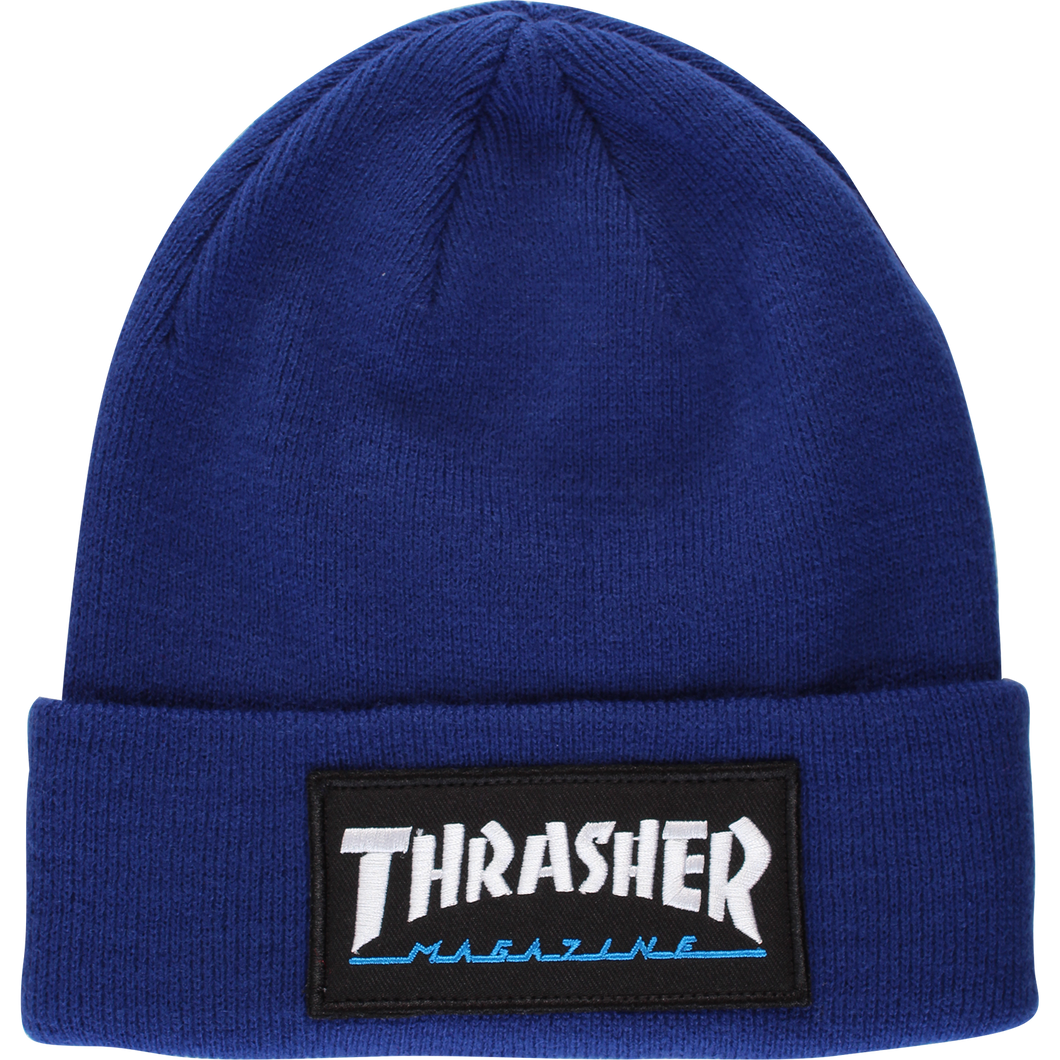 Thrasher Logo Patch Beanie Navy