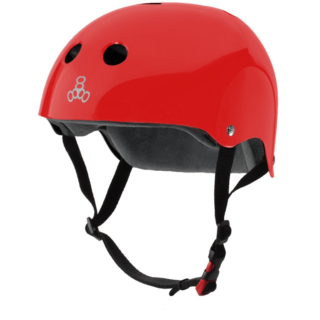 Triple Eight The Certified Sweatsaver Red Glossy Helmet
