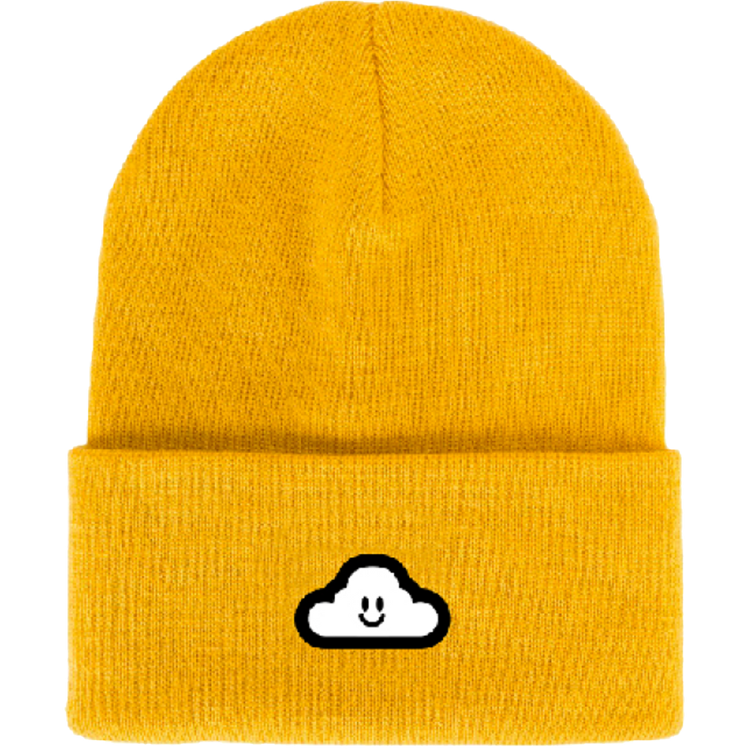 Thank You Cloudy Beanie Gold