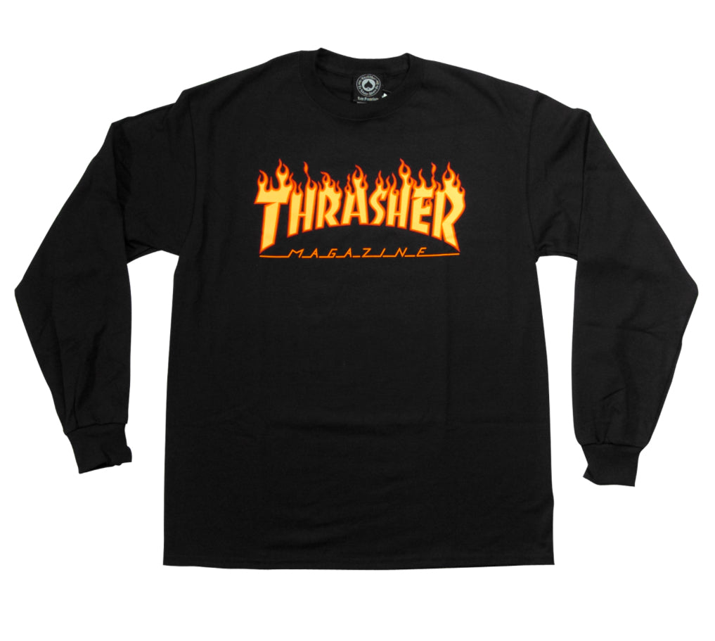 Thrasher Long-Sleeve Flame Logo L/S Tee
