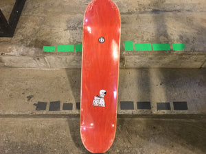 "Dunno Skateboards 7.7"" Red Deck + FREE GRIP"