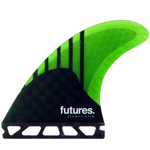 Futures Stamps V2 Generation 5-Fin Set (Carbon/Neon Green)
