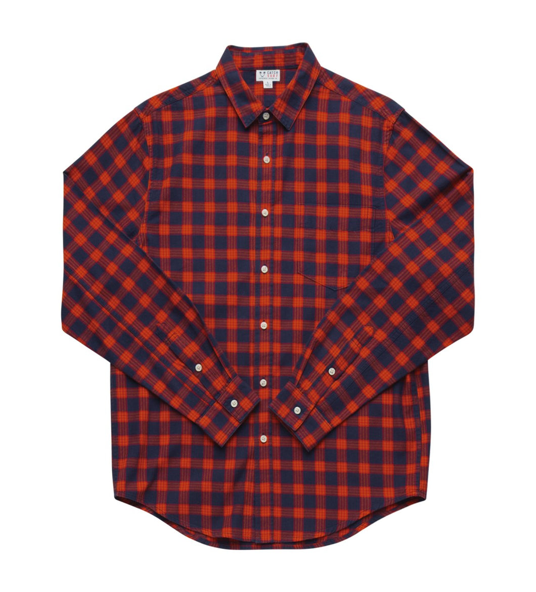 Catch Surf Johan L/S Flannel (Orange)