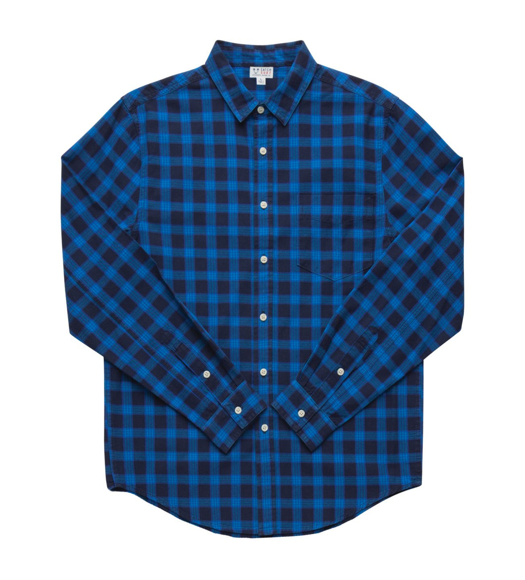 Catch Surf Johan L/S Flannel (Blue)
