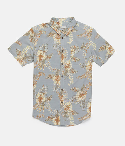 Rhythm Bermuda S/S Shirt Faded Blue
