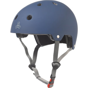 Triple Eight Dual Certified Matte Blue Helmet
