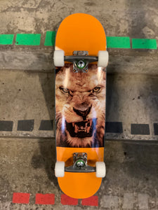"Mini Logo Animal Eyes Lion Orange 7.5"" Complete Skateboard"