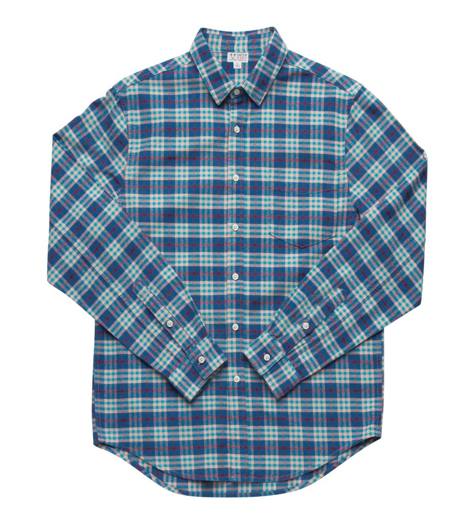 Catch Surf Turner L/S Flannel Blue