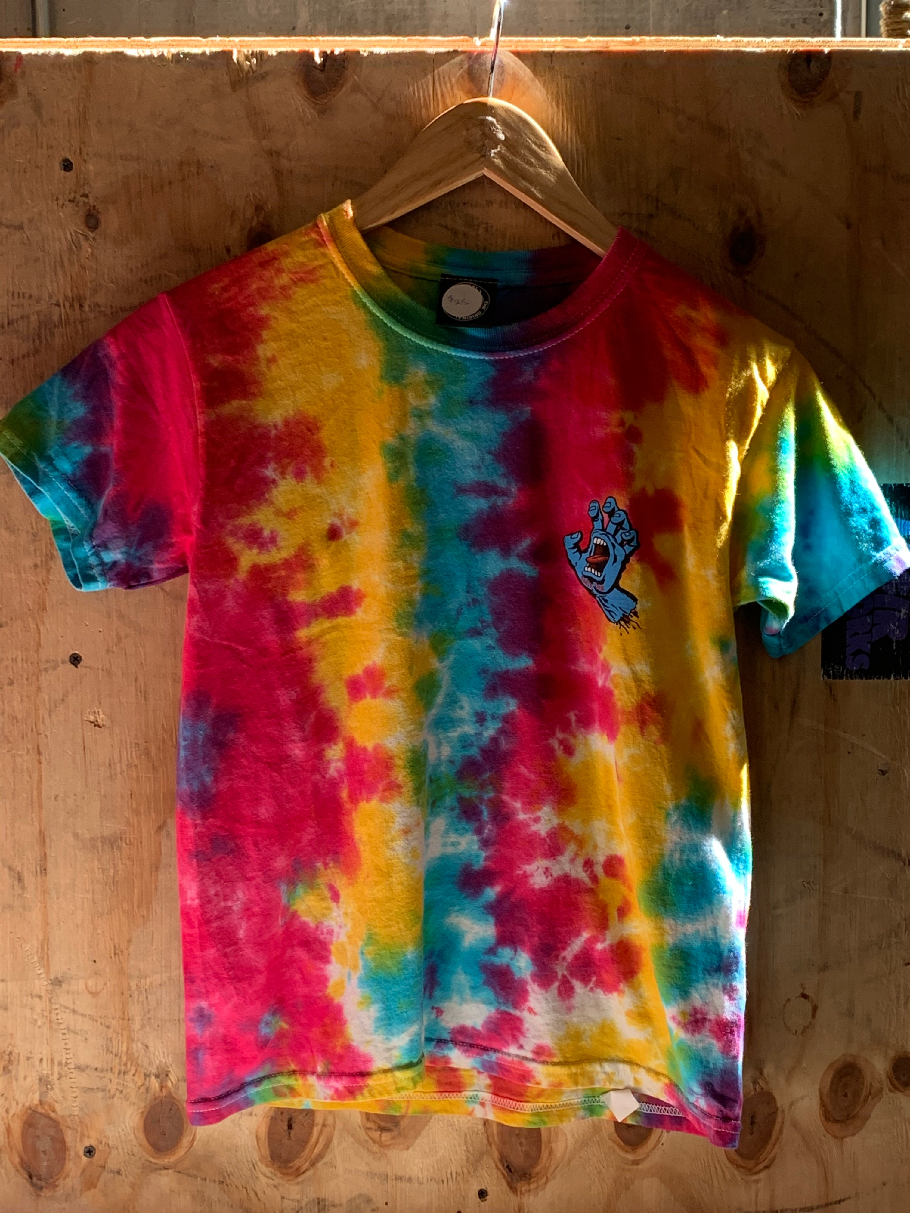 Santa Cruz Screaming Hand Mini Hand Multi Rainbow S/S Youth Tee